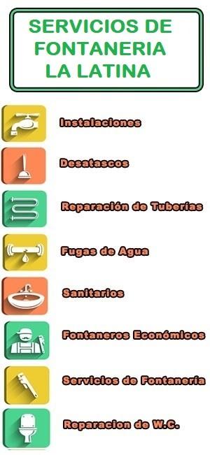 servicios de fontaneria en La Latina