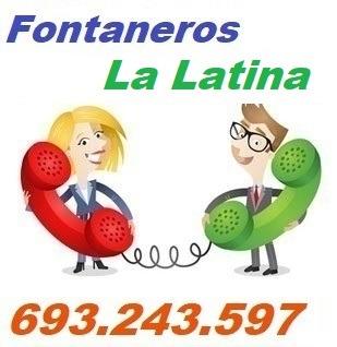 Telefono de la empresa fontaneros La Latina