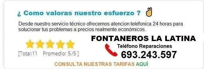 Fontanero La Latina precio